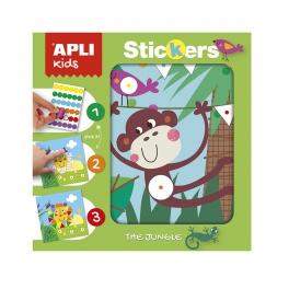 Apli Kids Plansze do wyklejania Kolory i Kształty – Dżungla