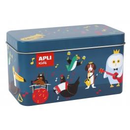 Apli Kids Puzzle w metalowym pudełku – Instrumenty 3+