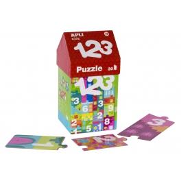 Apli Kids Puzzle w kartonowym domku  – Cyfry 3+