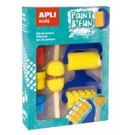 Apli Kids Zestaw stempelków i wałków z farbkami