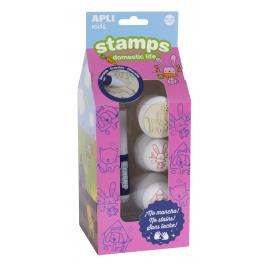 Apli Kids Stemple z markerem – Zwierzęta