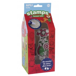 Apli Kids Stemple z markerem  – Las 3+