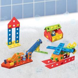 BathBlocks Zabawka do kąpieli- Zestaw klocków konstruktorskich 56 elementów