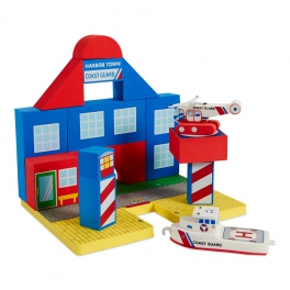 BathBlocks Zabawka do kąpieli- Straż przybrzeżna z helikopterem 19 elementów