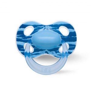Smoczek Bibi Swiss Smoczek ortodontyczny uspokajający Wild Baby niebieski