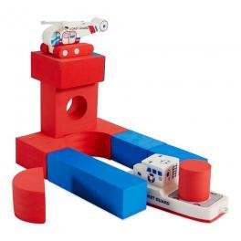 BathBlocks  Zabawka do kąpieli- Straż przybrzeżna z helikopterem 11 elementów