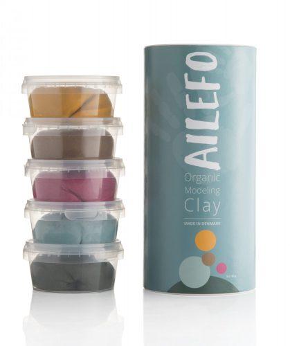 Ailefo Organiczna Ciastolina duża tuba- 5 kolorów Halloween
