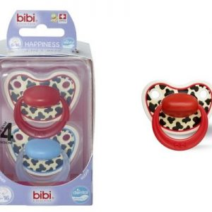 Bibi swiss-Smoczek ortodontyczny uspokajający TIGER SWISS DUO/niebieski+czerwony