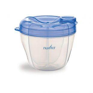 Nuvita, Pojemnik na mleko, 4 przegródki -niebieski