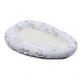 PurFlo Oddychający materac do spania dla niemowląt –Żyrafy