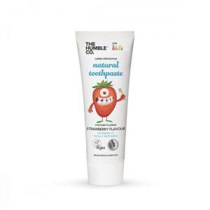 Humble Brush, Truskawkowa pasta do zębów z fluorem dla dzieci, 75ml
