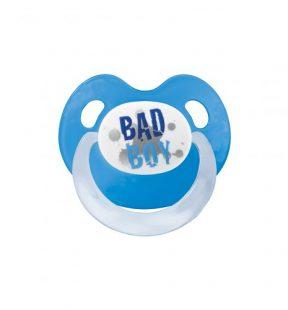 Smoczek Bibi Swiss ortodontyczny uspokajający Bad Boy niebieski
