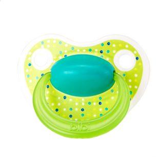 Smoczek Bibi Swiss ortodontyczny uspokajający Lovely Dots zielony