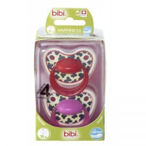 Bibi swiss-Smoczek ortodontyczny uspokajający TIGER SWISS DUO/różowy+czerwony