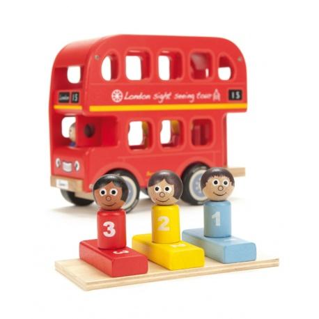 Autobus Berniego z drewna kauczukowego Indigo Jamm