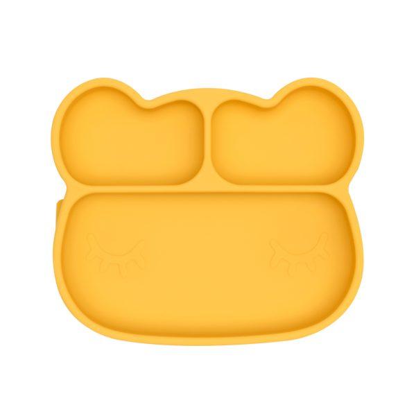 Talerzyk silikonowy z przyssawką żółty Miś