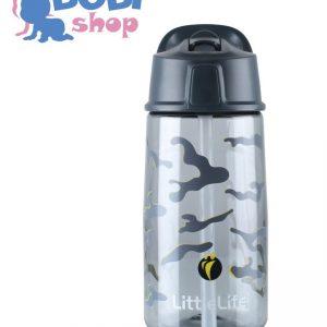 Bidon LittleLife Flip-Top dla dzieci 550ml – Camo