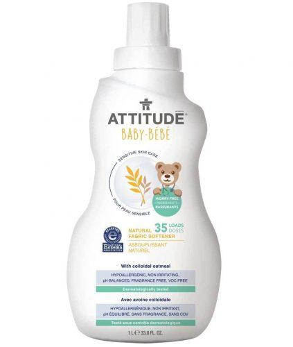 Płyn zmiękczający do płukania tkani dla dzieci i niemowląt, 1L Attitude
