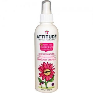 Spray do włosów dzieci ułatwiający rozczesywania Arbuz i Kokos, 240 ml Attitude