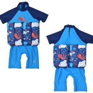 Kostium kąpielowy do nauki pływania UV Float Suit z suwakiem Splash About Morski Świat 1-6 lat