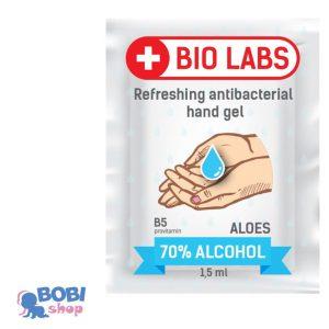BIOLABS żel do dezynfekcji rąk antybakteryjny saszetka 1,5 ml