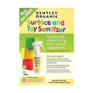 Spray dezynfekujący do mycia zabawek Bentley Organic Mini 50ml