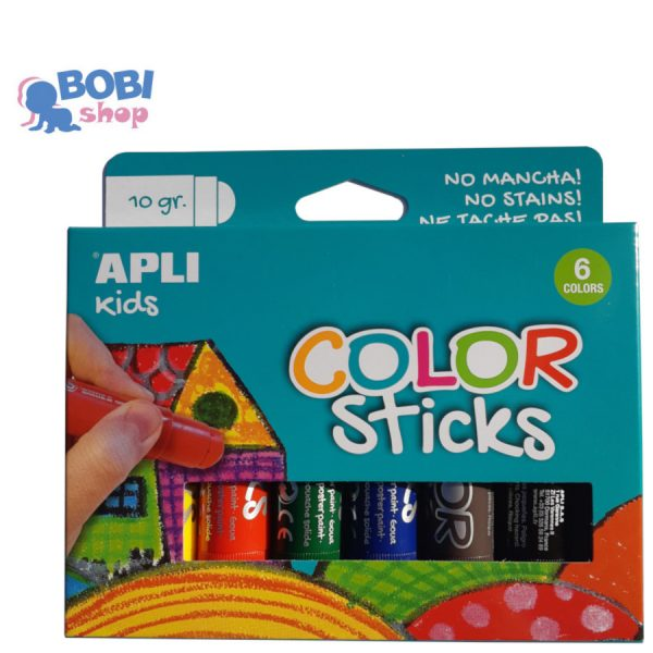 Apli Kids farby w kredce 6 kolorów