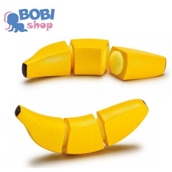 Drewniany banan do krojenia Erzi