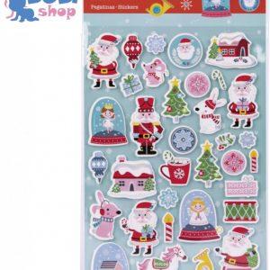 Zestaw świątecznych naklejek Apli Kids Śnieżynki 34 szt.