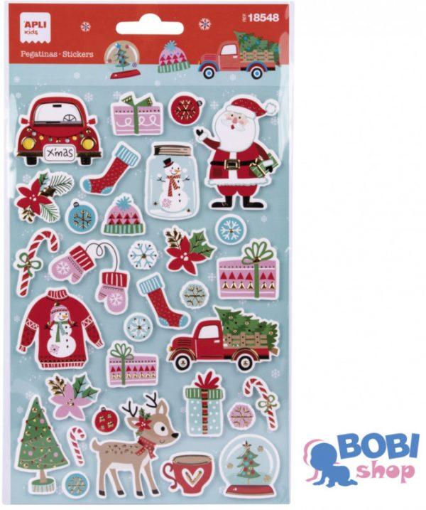 Zestaw świątecznych naklejek Apli Kids Sweter 32 szt.